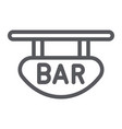 bar signboard line icon banner and decoration vector image