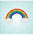 bright colorful rainbow in vector image vector image