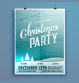 christmas party flyer design template vector image