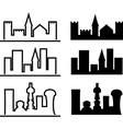city evolution vector image