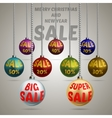 Colorful Christmas balls discount vector image