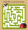 cow going home maze game vector image