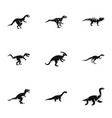 different dinosaur icons set simple style vector image vector image