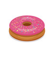 donut icon pink color isolated on white background vector image