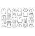 doodle set female clothes for spring and summer vector image