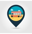 Double decker open top sightseeing city bus icon vector image vector image