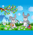 easter bunny topic image 1 vector image