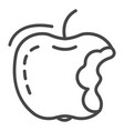 eco apple icon outline style vector image