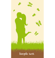 Ecological background vector image vector image
