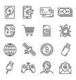 electronic device gadget technology icons vector image