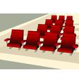 Empty seats vector image vector image