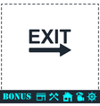 Exit icon flat vector image vector image