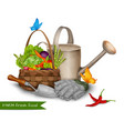 Farm fresh food concept vector image vector image