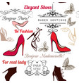 fashion seamless background pattern with shoes vector image vector image
