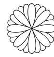 figure flower with petals icon vector image vector image