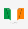 flag of ireland flat icon waving flag with vector image