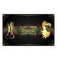 golden business card for beauty salon vector image vector image