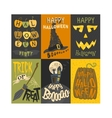 Halloween invitation cards vector image