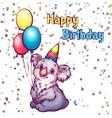 Happy birthday greetings with koala vector image