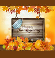 holiday thanksgiving background with autumn vector image