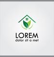 home eco logo vector image vector image