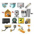 house or premises security surveillance camera vector image
