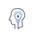 human head and light bulb idea psychology vector image vector image