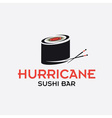 hurricane sushi bar design template vector image