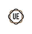 initial letter ue elegance logo design template vector image vector image