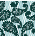 Lace seamless pattern with paisley vector image vector image