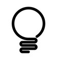 light bulb icon simple black line symbol isolated vector image vector image