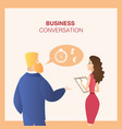man and woman colleagues business conversation vector image