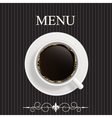Menu for restaurant cafe vector image vector image