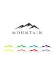 mountain logo icon template vector image vector image