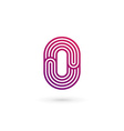 Number 0 logo icon design template elements vector image vector image