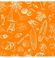 orange surfing hand draw pattern vector image