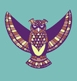 owl bird template vector image