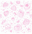 pattern gifts isolated white background vector image vector image