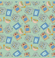 pattern seamless kids with kitchen doodle element vector image