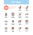 pet shop - modern simple thin line design icons vector image