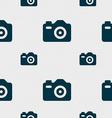 Photo Camera icon sign Seamless pattern with vector image vector image