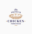premium chicken eggs farm abstract sign vector image vector image