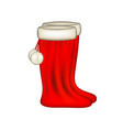 red santa claus boots vector image