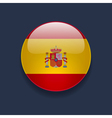 round icon with flag spain vector image