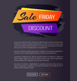 sale friday discount web page vector image