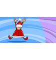 santa claus greeting card cartoon vector image vector image