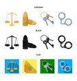 scales of justice cartridges a bunch of keys vector image vector image