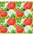 Seamless ornament slices of vegetables vector image vector image