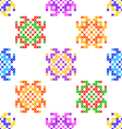 Seamless texture abstract embroidered patterns vector image