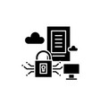 securety server black icon sign o vector image